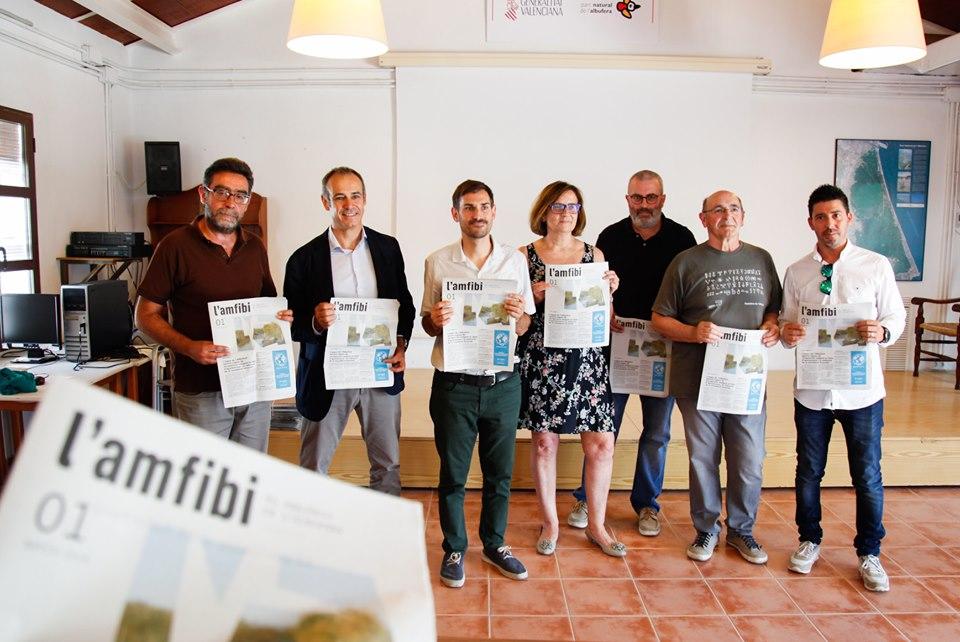 Representantes de las instituciones y empresas colaboradoras en el proyecto.